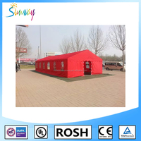 SUNWAY PVC Army Canvas Fabric Used Military Camp Tents Military Tent Garage