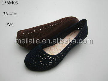 Low heel women pvc shoes,PVC flocking shoes, ladies sandals