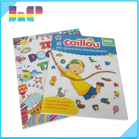 printing children story paper colouring removable sticker book