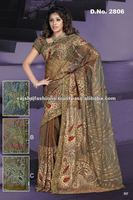 Bollywood Embroidery Cotton Designer sarees