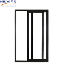 Cheap Price Almimun Single Tempered Glass Sliding Door With Fly Screen Hot Sale
