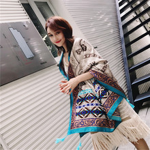 SF17229170 Autumn Cotton Tassel Vintage Geometric Bohemian Scarves Shawls Travel Pashmina