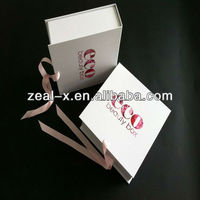 Cosmetic Paper Packing Gift Boxes, Ribbon Folding Design Boxes For Cosmetic