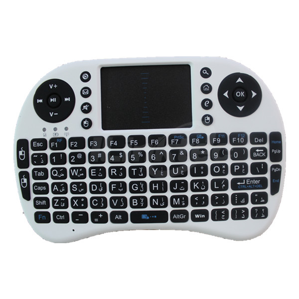 High quality Bluetooth keyboard mobile phone arabic keyboard with Touchpad mouse& Multimedia keys