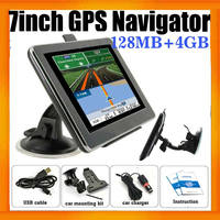 Portable car gps navigator 84h-3 With 7inch HD Display 128MB 4GB and free Global Navigation maps