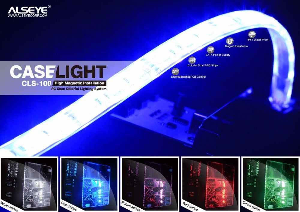 Alseye manufacturer IA0409 rgb dream color led strip with connector