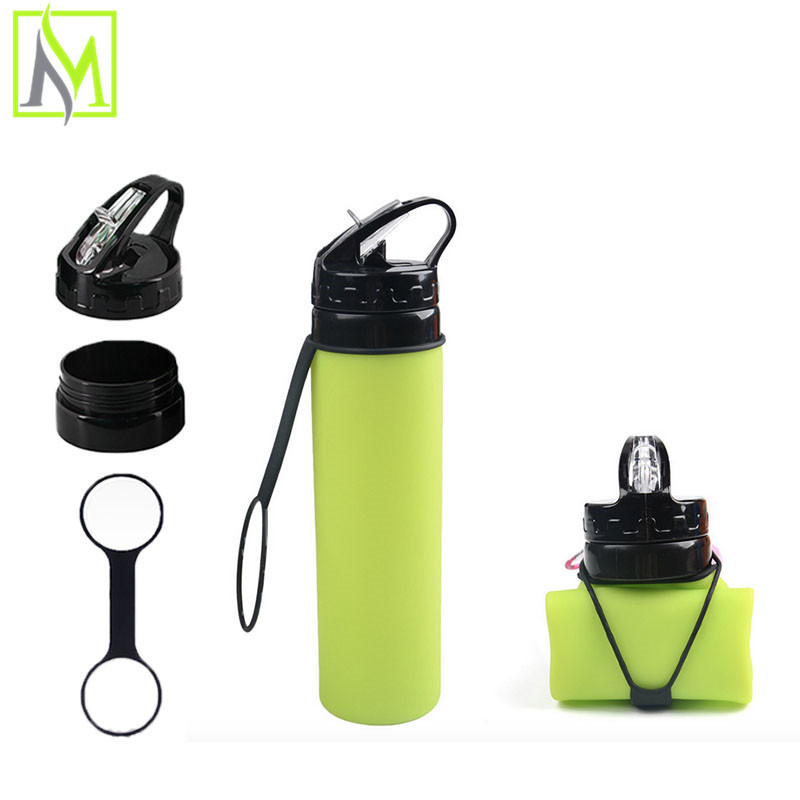 Best Heat-resistant Non-toxic Hygiene Foldable Soft BPA Free best reusable water bottles Purified Boxing Water Bottle