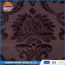 wholesale 100 polyester 250gsm flocking brown sofa fabric