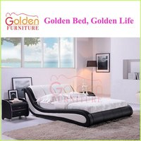 N888# luxury leather bed with single bed designs