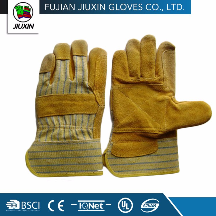 Jiuxin Cheap Custom Professional Safety Cow Split Split Leather Gloves
