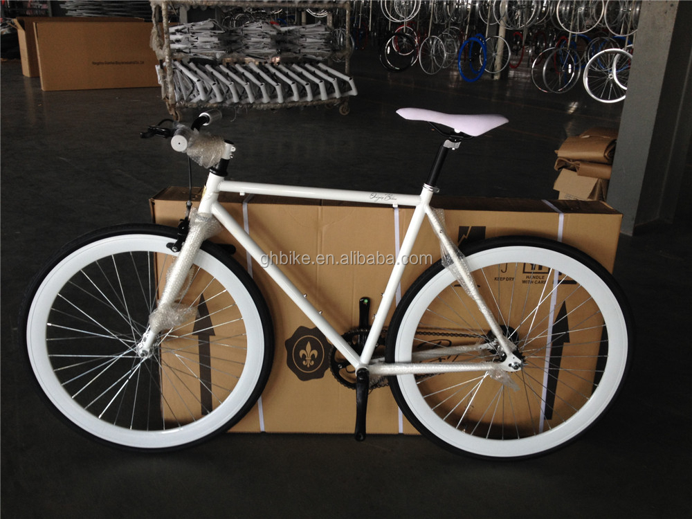 flip flop hub fixie gear bike white fixie bike high quality fixed gear bike wholesale price