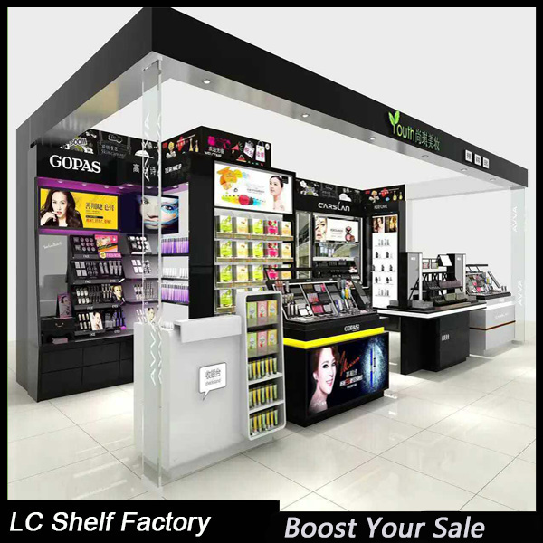 modern design shop metal and wood display stand counter rack for retail department stores