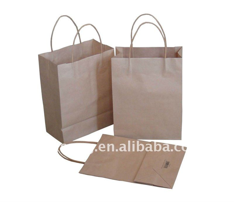 Alibaba wholesale hot sale cheap brown kraft paper bag with custom design