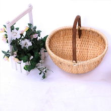 Cheap price rustic hanging wicker baskt tote willow storage basket