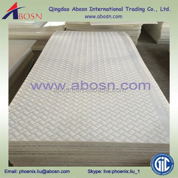 light duty construction road mat/uhmwpe support mat/ground protection mat