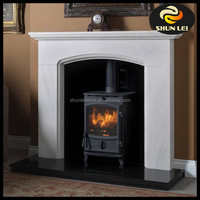 Cheap white marble fireplace surround