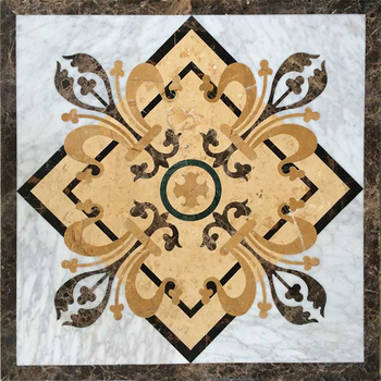 Brand New Professional Beautiful marble tile waterjet floor medallion tiles