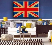 Hot sale Union Jack pop canvas art wall painting designs for home decorate