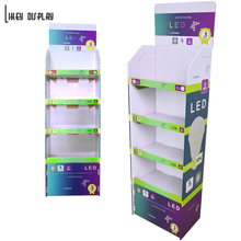 Led Lamp Advertising Paper Carton display Floor Stand Boxes