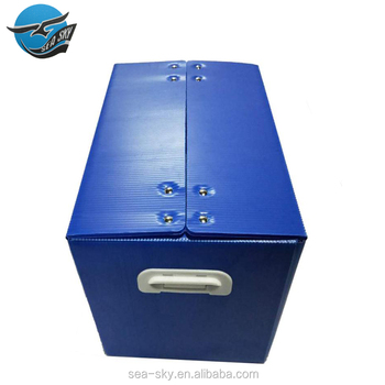 China factory light folding plastic corrugated pp hollow tool storage packaging container box for shoes packing