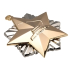 Customized made logos round star shaped metal medals