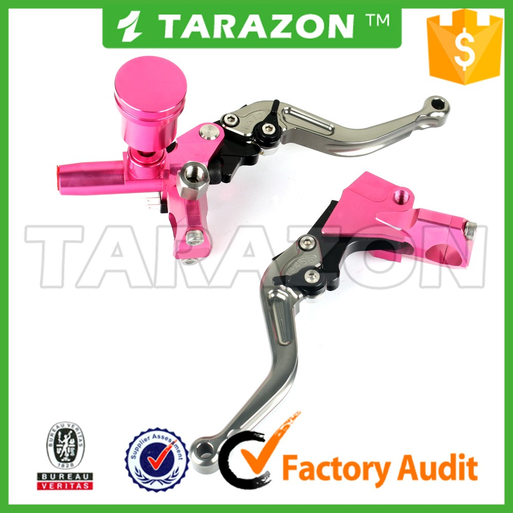 Motorcycle Universal 7/8 Brake Clutch Master Cylinder Levers Set With Reservoir
