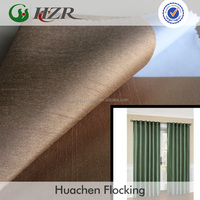 Hotel Project Use Faux-Silk Doupion Foam Back Coated Blackout Curtain Fabric