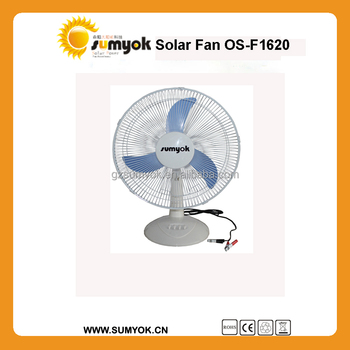 16 inch 12v Indoor ac&dc rechargeable solar fan price OS-F1620