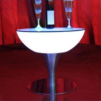 Wholesale led light illuminated bar table/waterproof LED glowing LED cocktail table