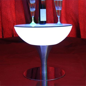 Wholesale led light illuminated bar table/waterproof glowing LED cocktail table