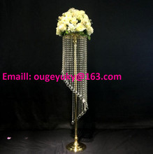 Bling crystal chandelier centerpieces wedding table chandelier flower stand centerpieces