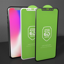 Factory Supply 10H Hardness 5D 6D Full Cover Tempered Glass Silk Screen Protector for Apple iPhone X 8