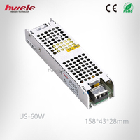 US-60W slim type single switching power supply with SGS,CE,ROHS,TUV,KC,CCC certification