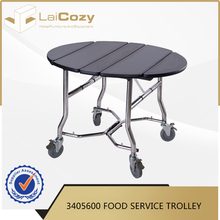 Foldable Stainless Steel types of food service trolley prices