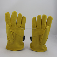 Soft leather thickening labor locomotive electric welding protective work gloves