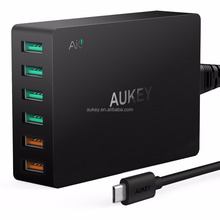 NEW Quick Charge 3.0 AUKEY 6 Port USB Charger for Samsung Galaxy S7/S6/Edge, LG G5, iPhone, Nexus 6P & More
