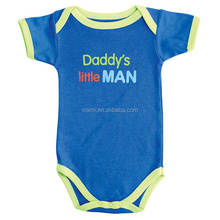 factory offer cheap affordable letter daddy's little man pure color clothes baby