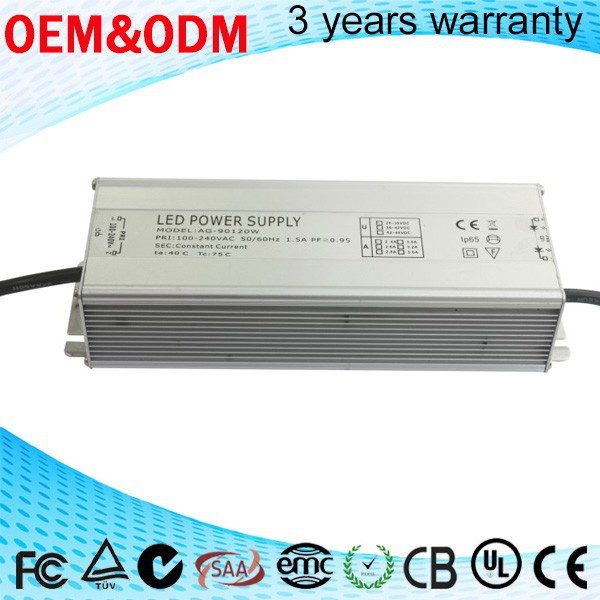 waterproof 100w 120w 130w 140w switching power supply & driver 2 years warranty led street light