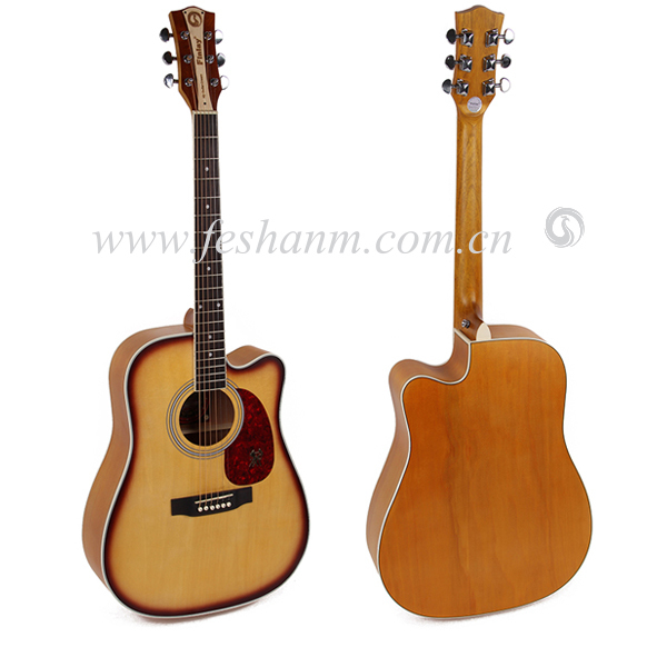 41inch made in China natural color Acoustic guitar