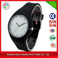 R1096 MOQ only 100pcs for printing logo wholesale bright color mens silicone watches