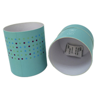 Custom round cylinder cardboard packaging box with lids