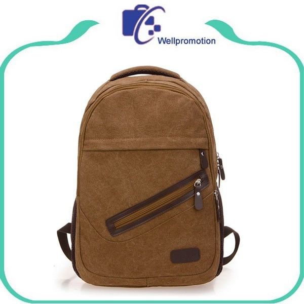 Cheap wholesale stylish travel big canvas gym backpack bag