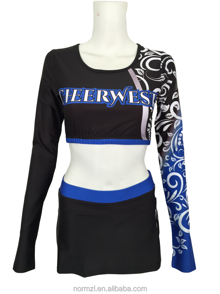 Sublimation Ladies Cheerleading Uniform High Quality Sublimated Netball Dress Uniforms