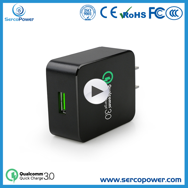 Smart qualcomm quick charge 3.0 universal travel charger