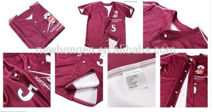sublimation printed cheap baseball uniforms, baseball uniform youth