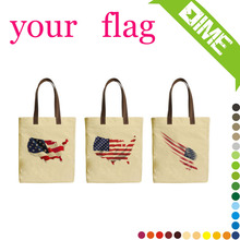 American flag canvas tote shopping bag