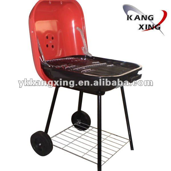 18-inch hamburger shaped charcoal bbq grill kamado