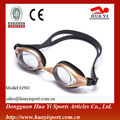 Cusotm design waterproof popular design oem logo on lenses swim gogle