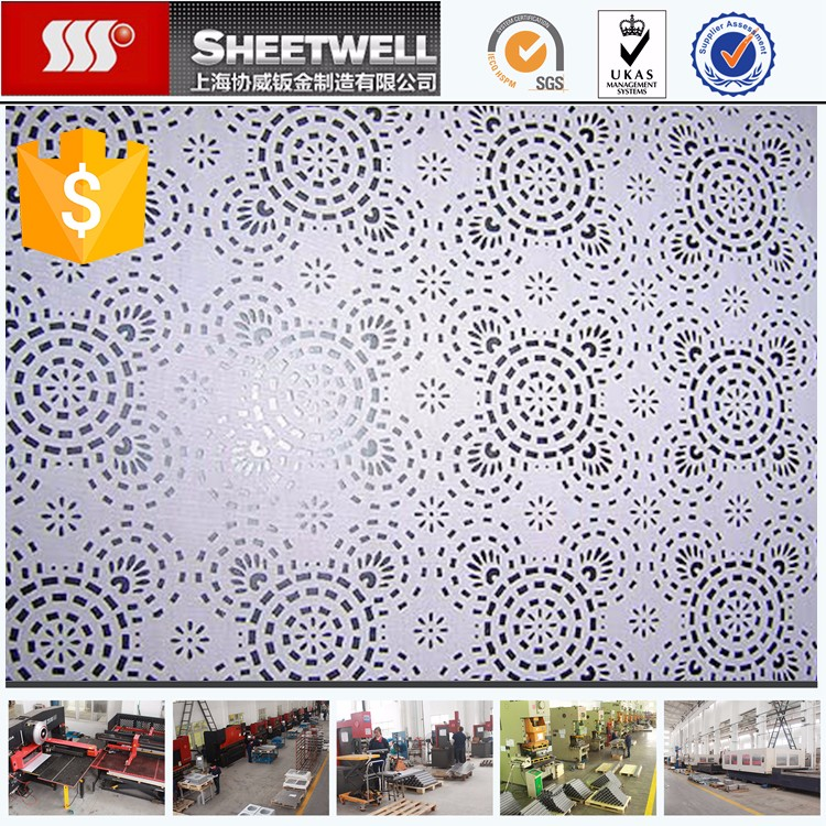 Perforated Galvanized Steel Laser Cutting For Metal
