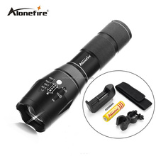 AloneFire G700 led flashlight 2000 Lumen Zoomable XML T6 LED 18650 Flashlight Focus Torch Zoom Lamp Light+battery+charger+mount